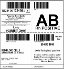 FDA Mandated Blood Label