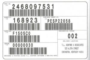 Mandated Auto Industry Barcode Label